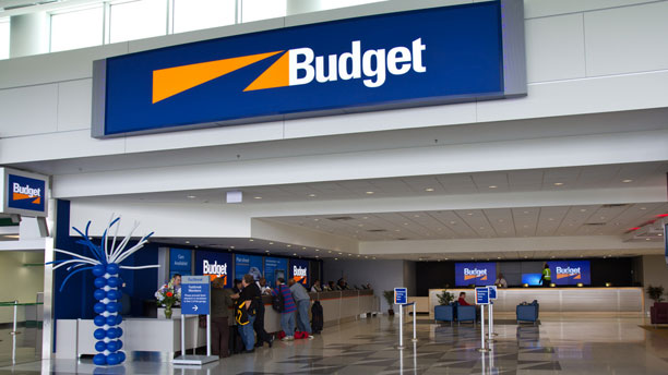 Budget Rent a Car at Airport Desk